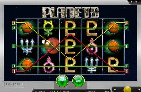 5 Gewinnlinien erwarten Dich im Automatenspiel Planets