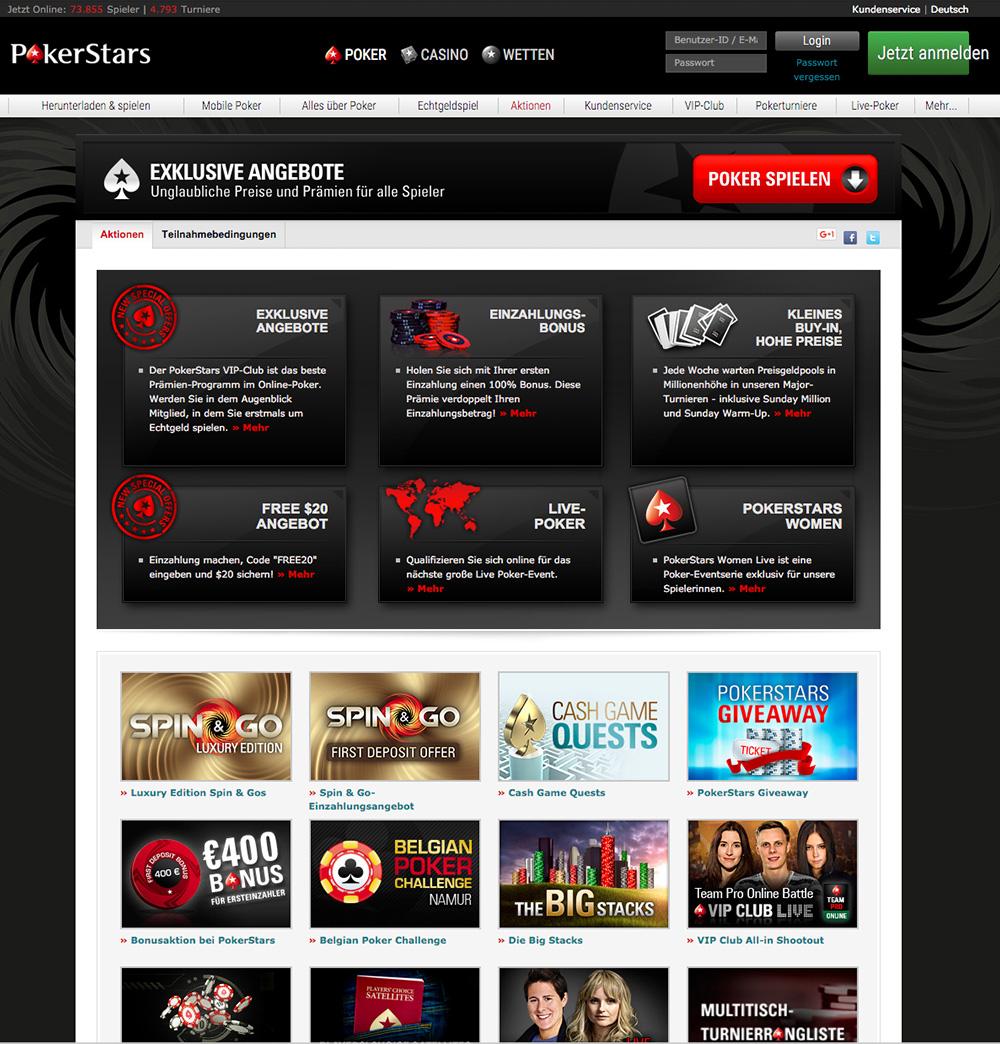 Pokerstars Aktionen