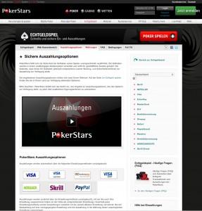 Diese Auszahlungsoptionen bietet PokerStars an