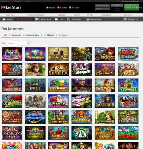 Auch Spielautomaten können bei PokerStars gespielt werden