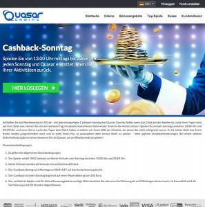 Cachback-Sonntag Bonus