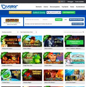 Das Casino Spiele Angebot von Quasar