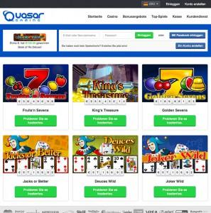 Auch Jackpot Spiele bietet Quasar seinen Spielern an