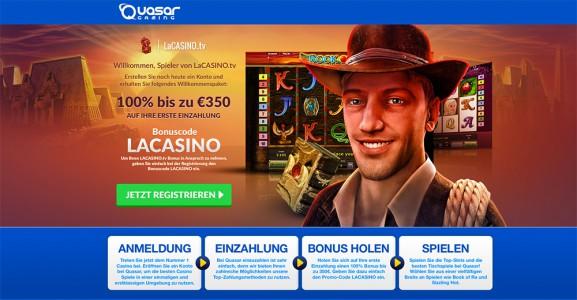 Der exklusive LaCasino.tv Bonuscode