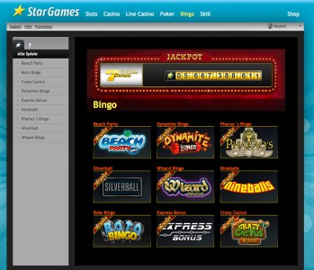 Bingo spielen bei Stargames