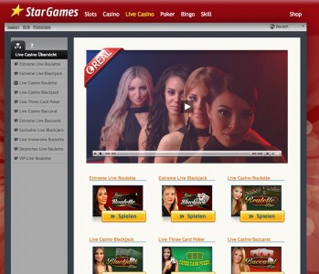 Die Live Casino Spiele mit echten Dealern