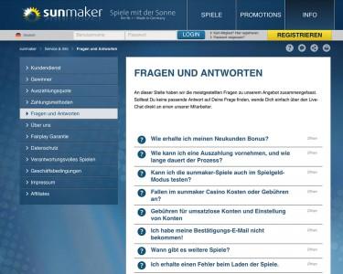 Sunmaker FAQ - Fragen und Antworten