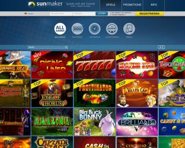 Spiele Angebot des Anbieters