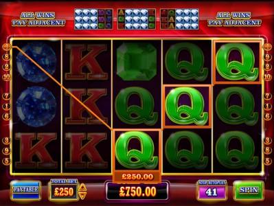 ein weiterer Gewinn beim kostenlosen Spielautomaten Super Diamond Deluxe