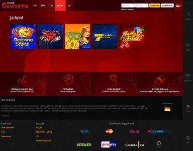 Jackpot Spiele im Super Gaminator Casino