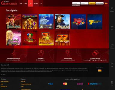 Die Top Spiele des Super Gaminator Casino
