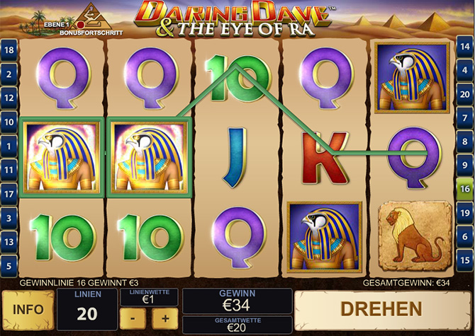 Spiele Daring Dave & The Eye Of Ra - Video Slots Online