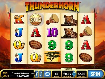 Bis zu 20 Freispiele im Thunderhorn Spielautomaten