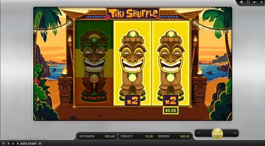 2 komplette Statuen im Sunmaker Spiel Tiki Shuffle