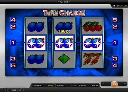 Gewinn beim Triple Triple Chance spielen