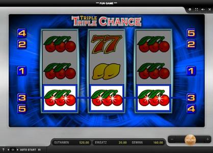 Ein weiterer Gewinn im Sunmaker Spiel Triple Triple Chance