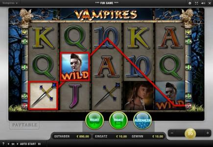 Gewinn im Merkur Spiel  Vampires Night