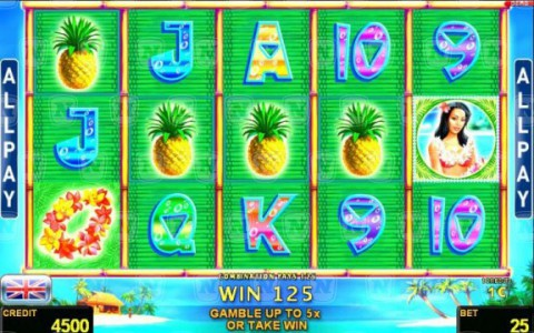 Der Spielautomat Waikiki Beach mit All Paylines