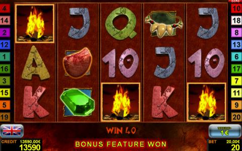 Bonus Feature im Wild Guy Automatenspiel von Novoline