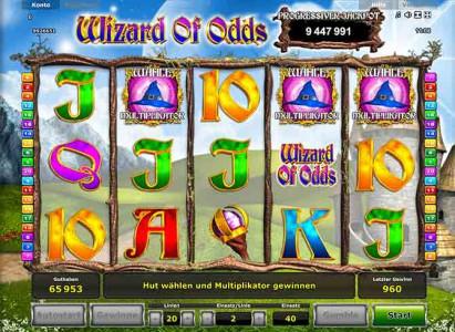 Jetzt anmelden und Wizard of Odds spielen